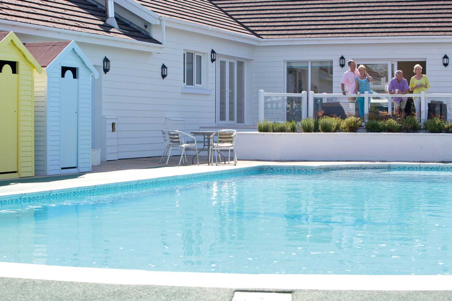 Outdoor pool at Penally Court