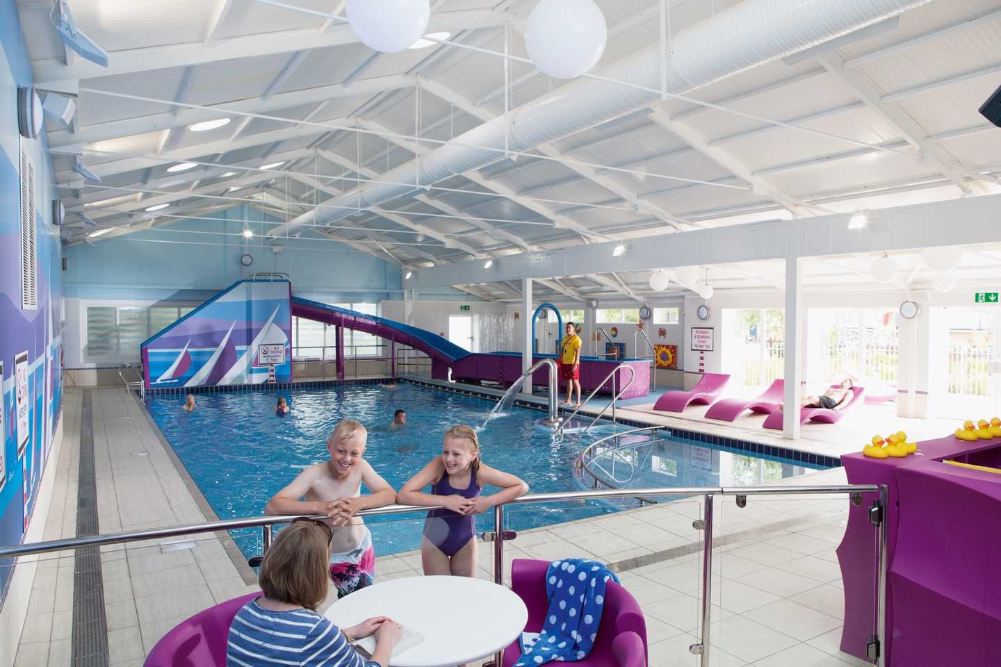 Heated indoor pool at Seaview Holiday Park