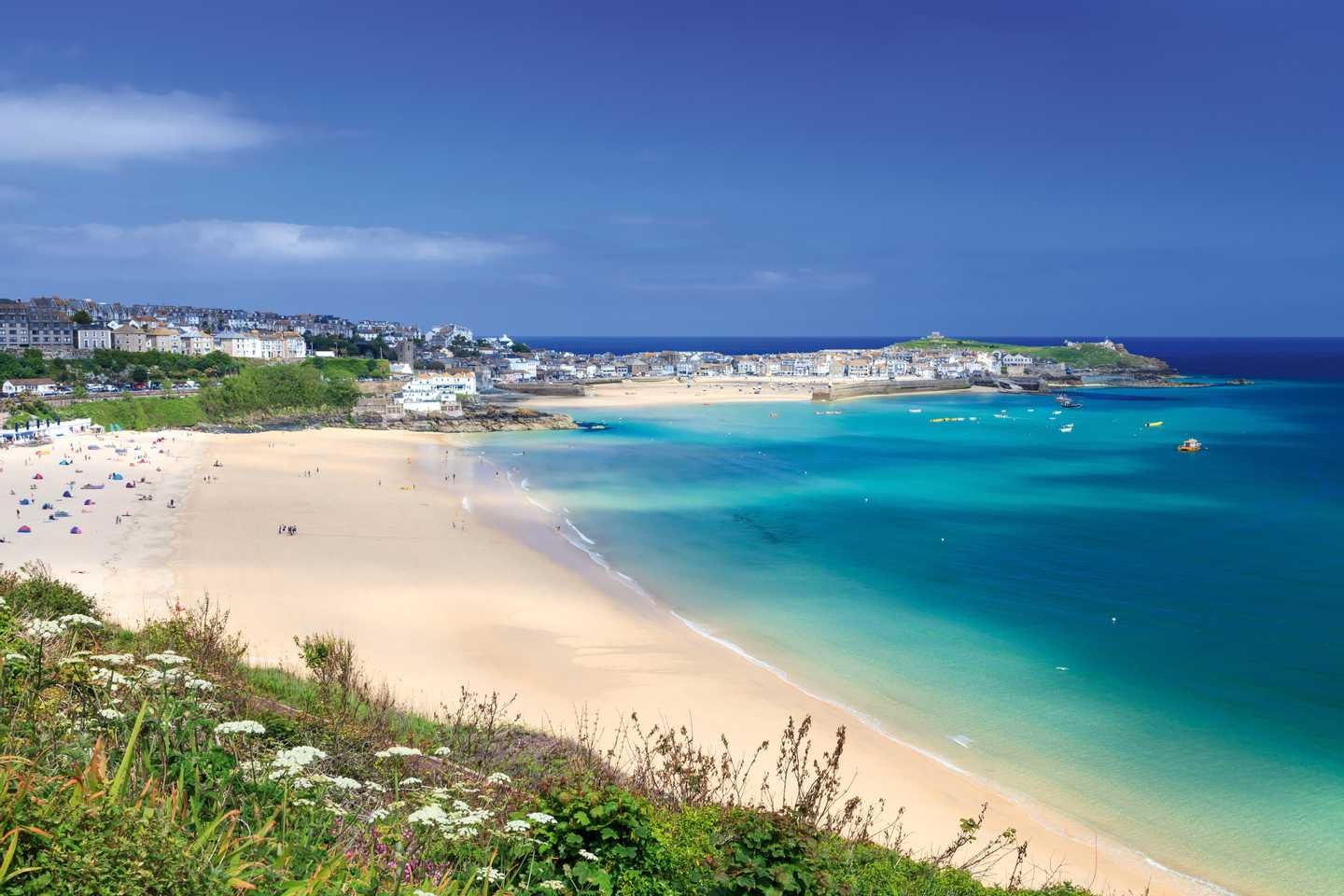 Coastal view of Porthminster Beach