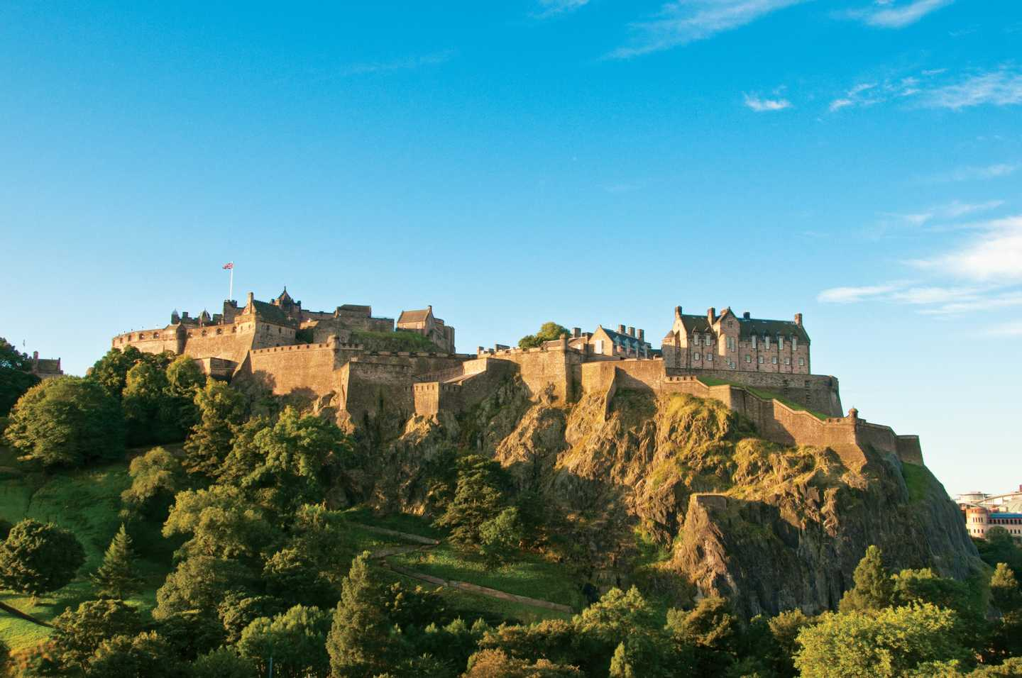 View of Edinburgh Castle on the Castle Rock