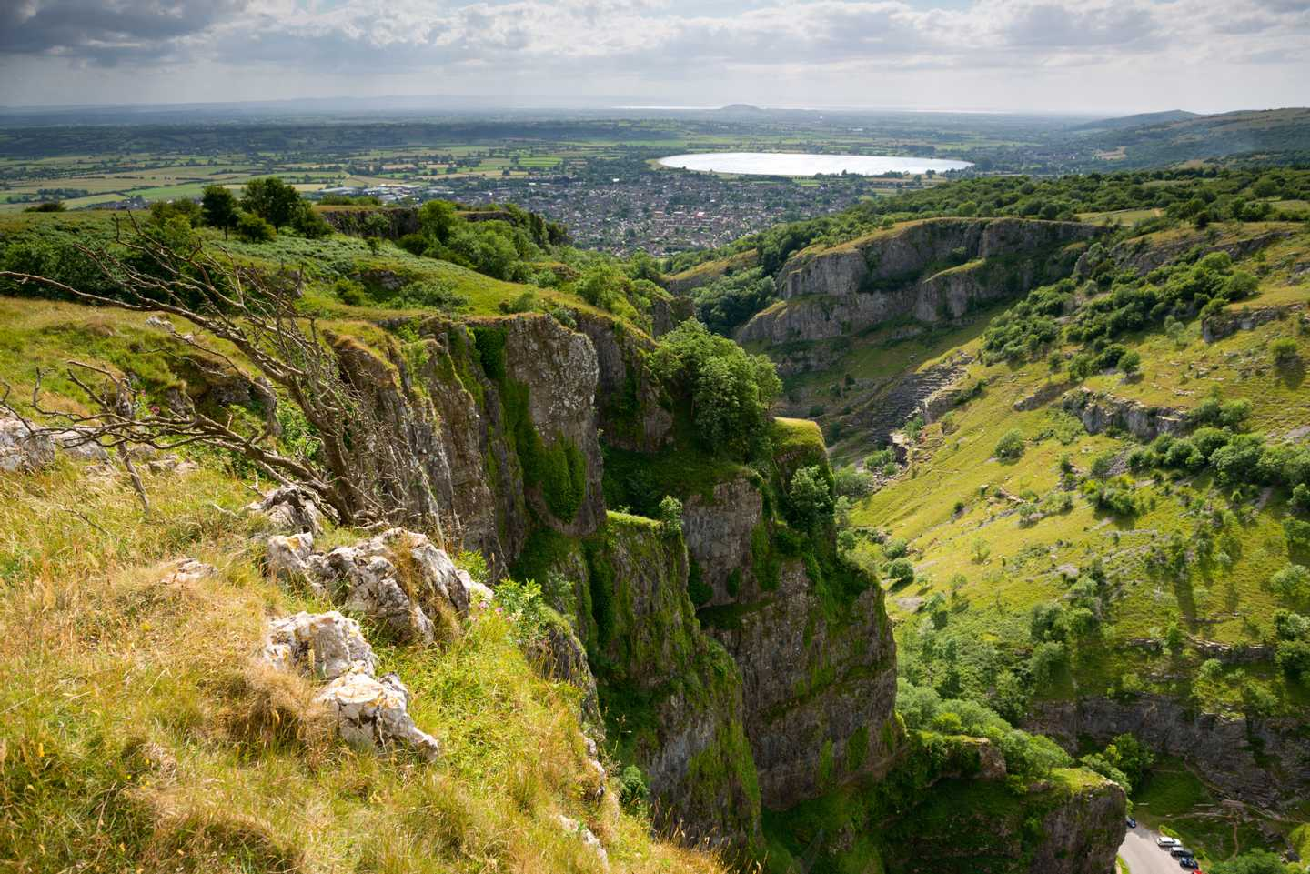 Panoramic view of Cheddar Caves and Gorge