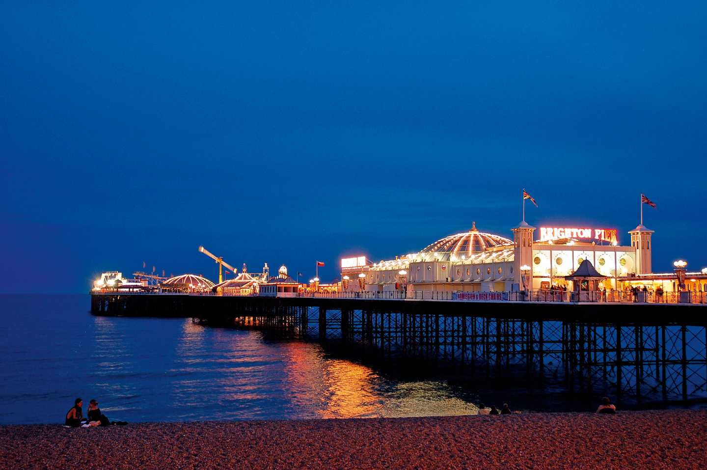 Brighton Pier lights at night