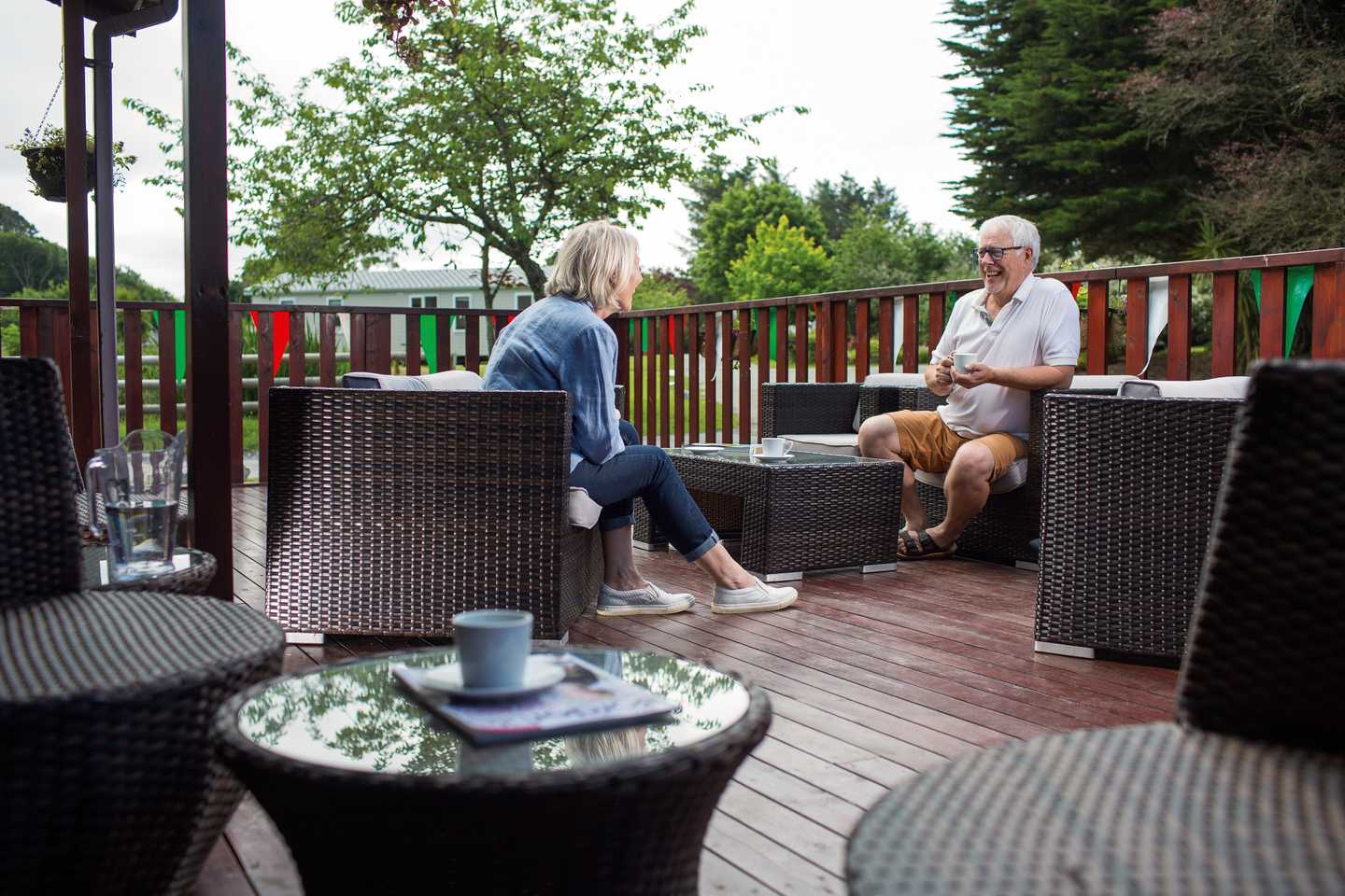 Guests on the Owners' Lounge terrace