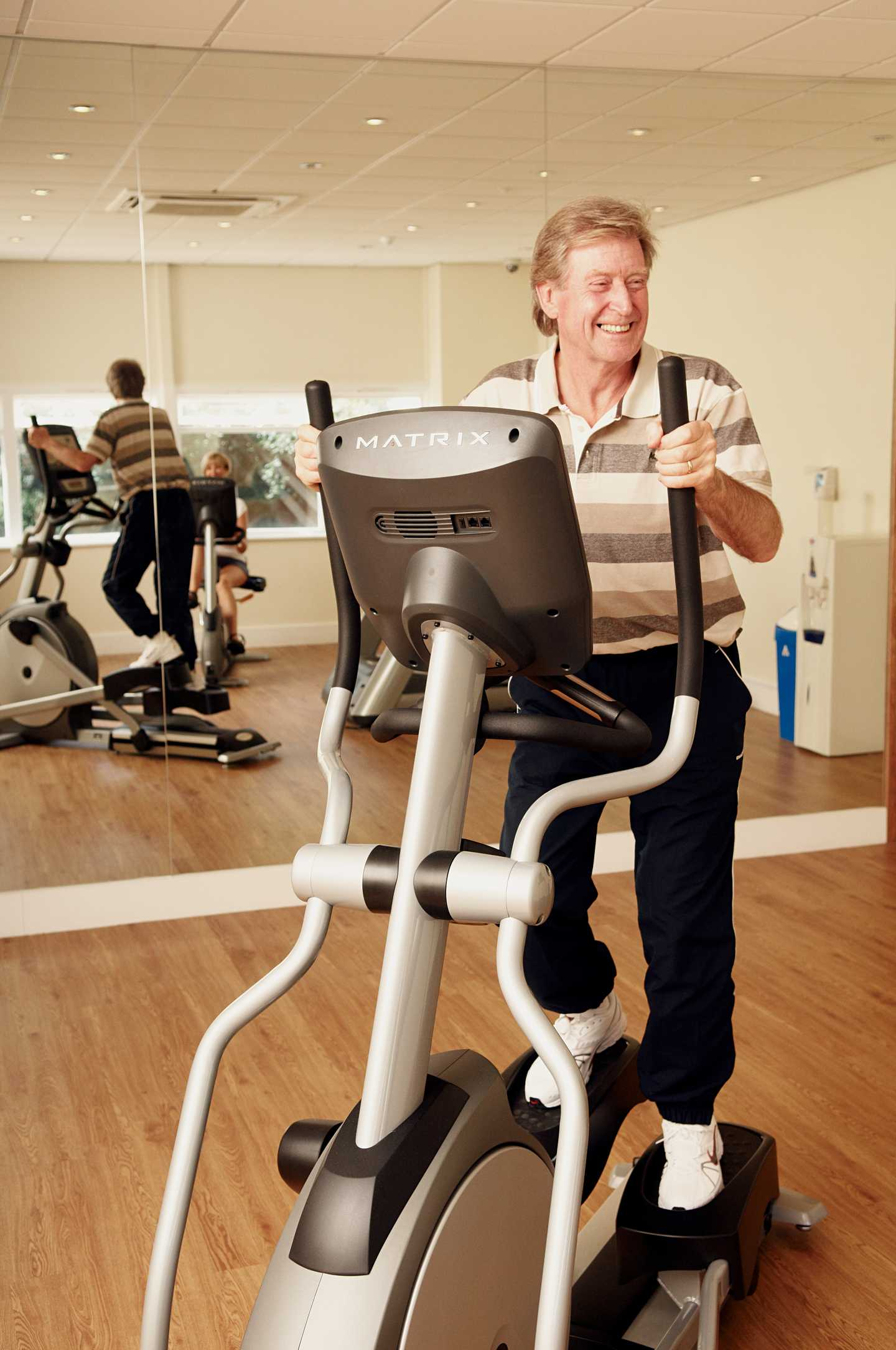 A lady working out in the gym exclusively for owners at Burnham-on-Sea