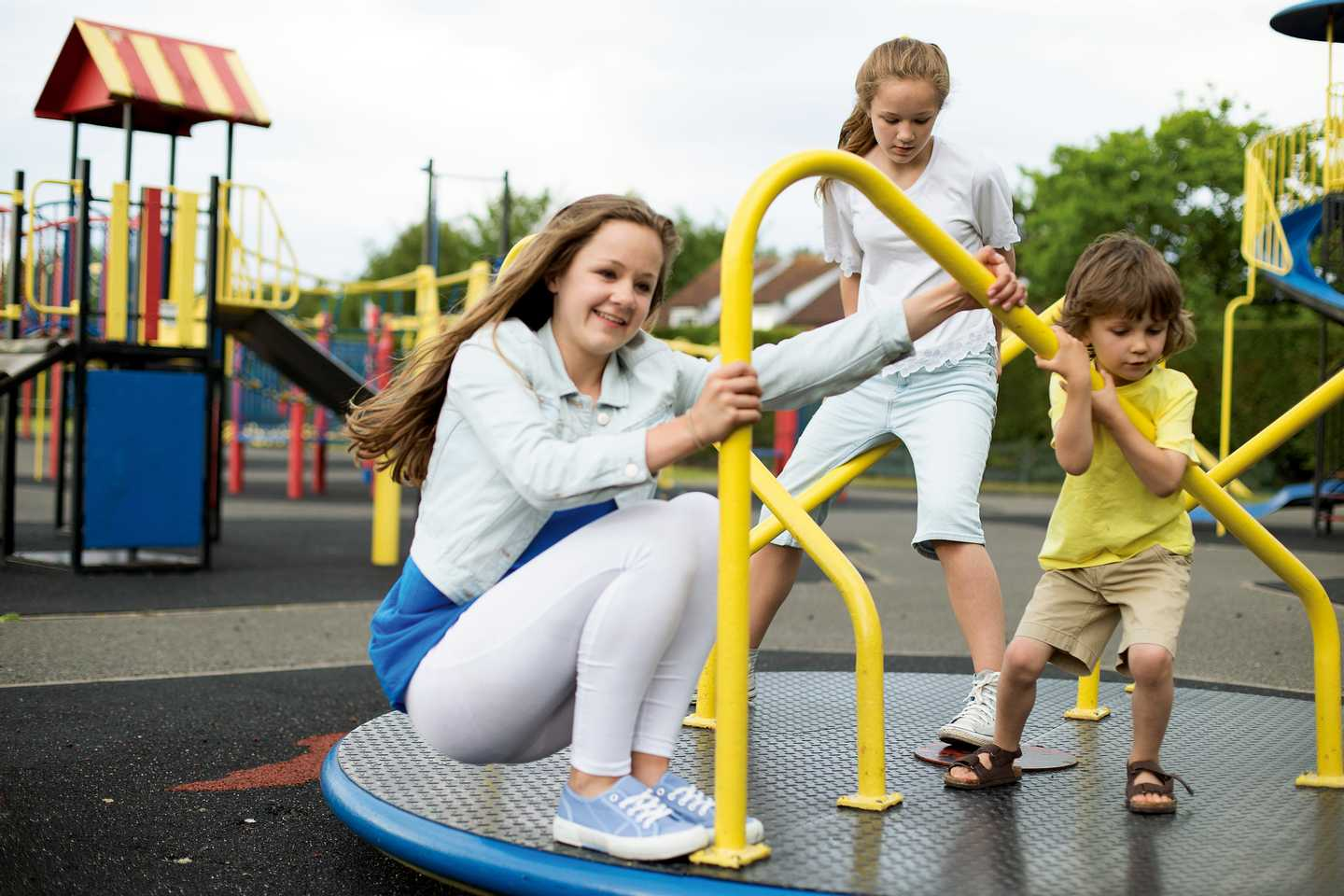 Children plying in the play area at Far Grange