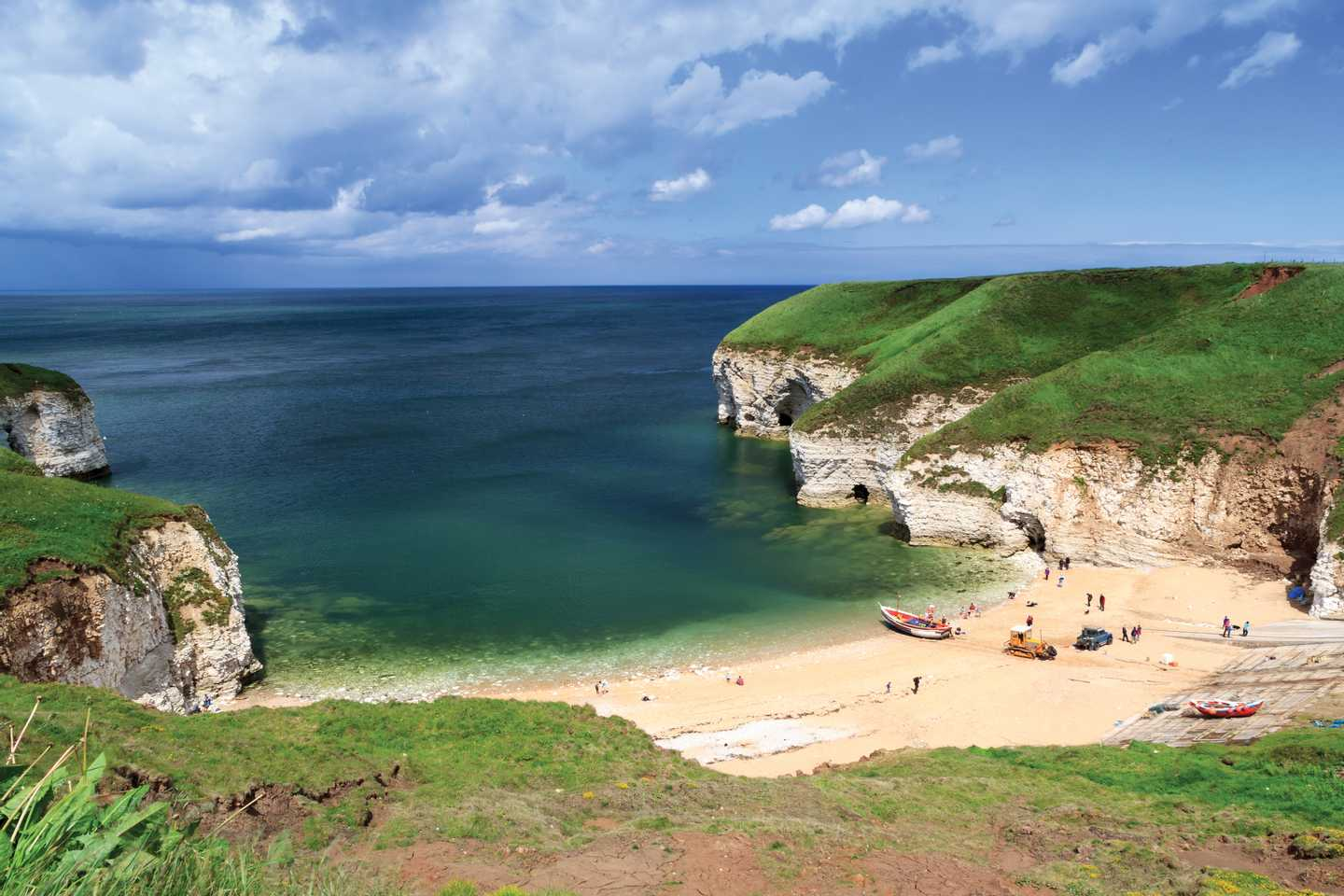 Flamborough beach near Bridlington in Yorkshire