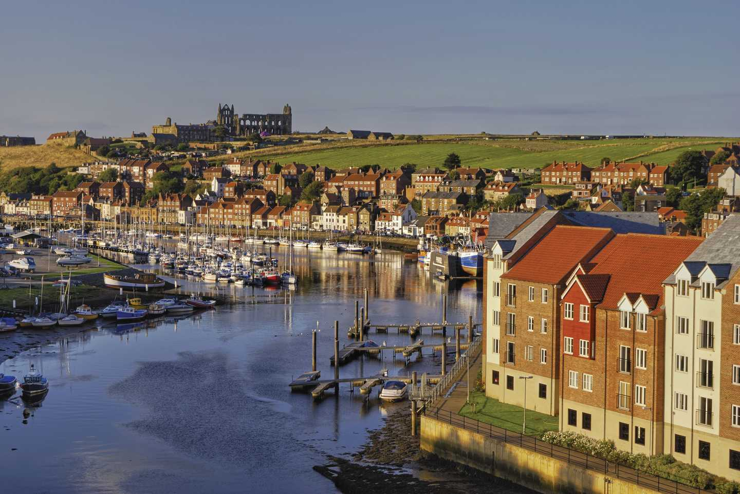 Panoramic overview of Whitby