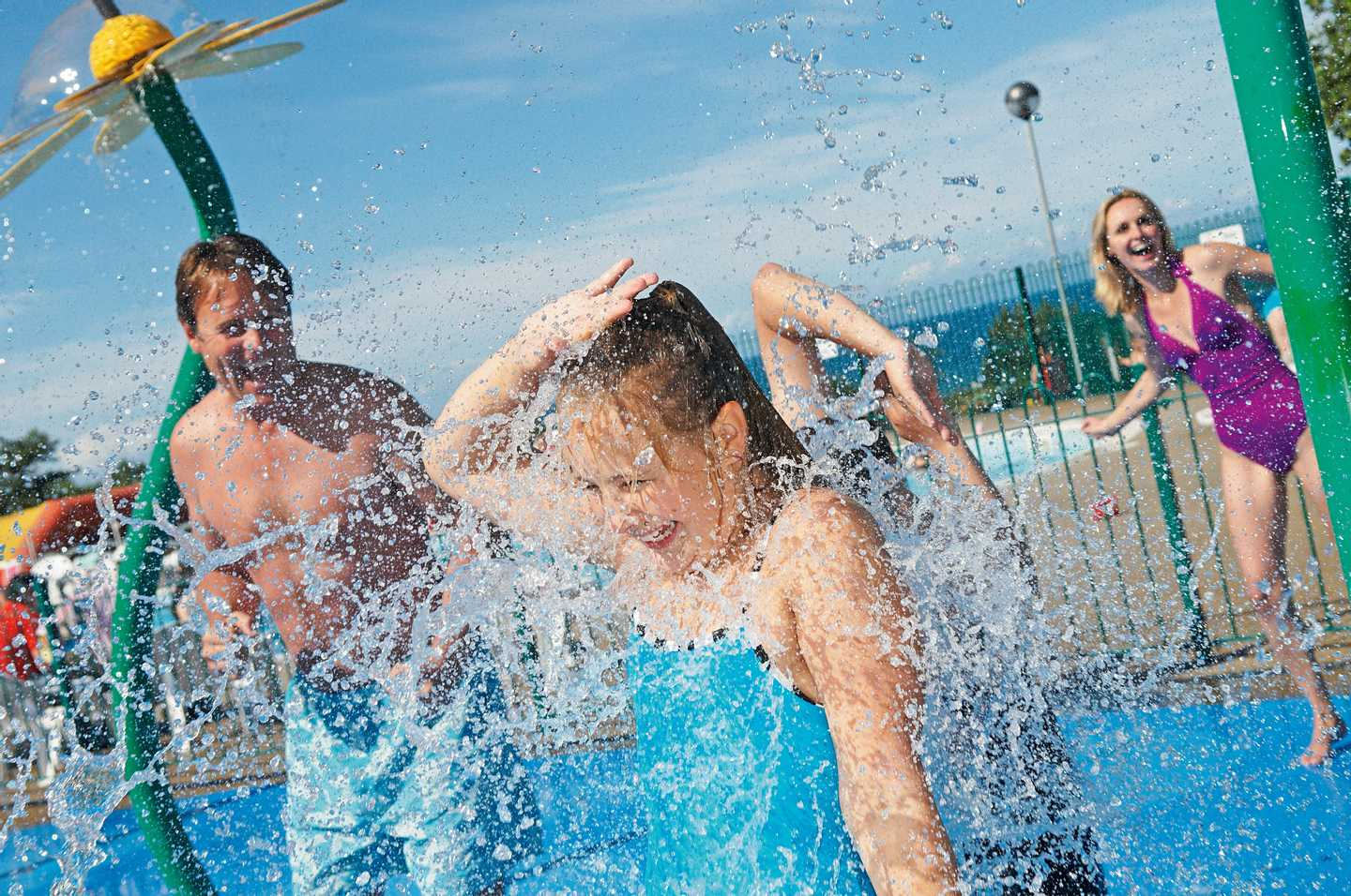 Children playing in the SplashZone at Quay West