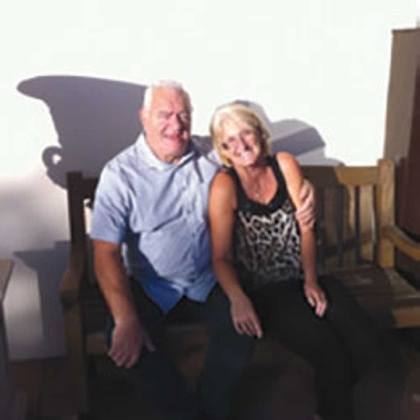 Mr and Mrs Terras, some of our owners at Berwick