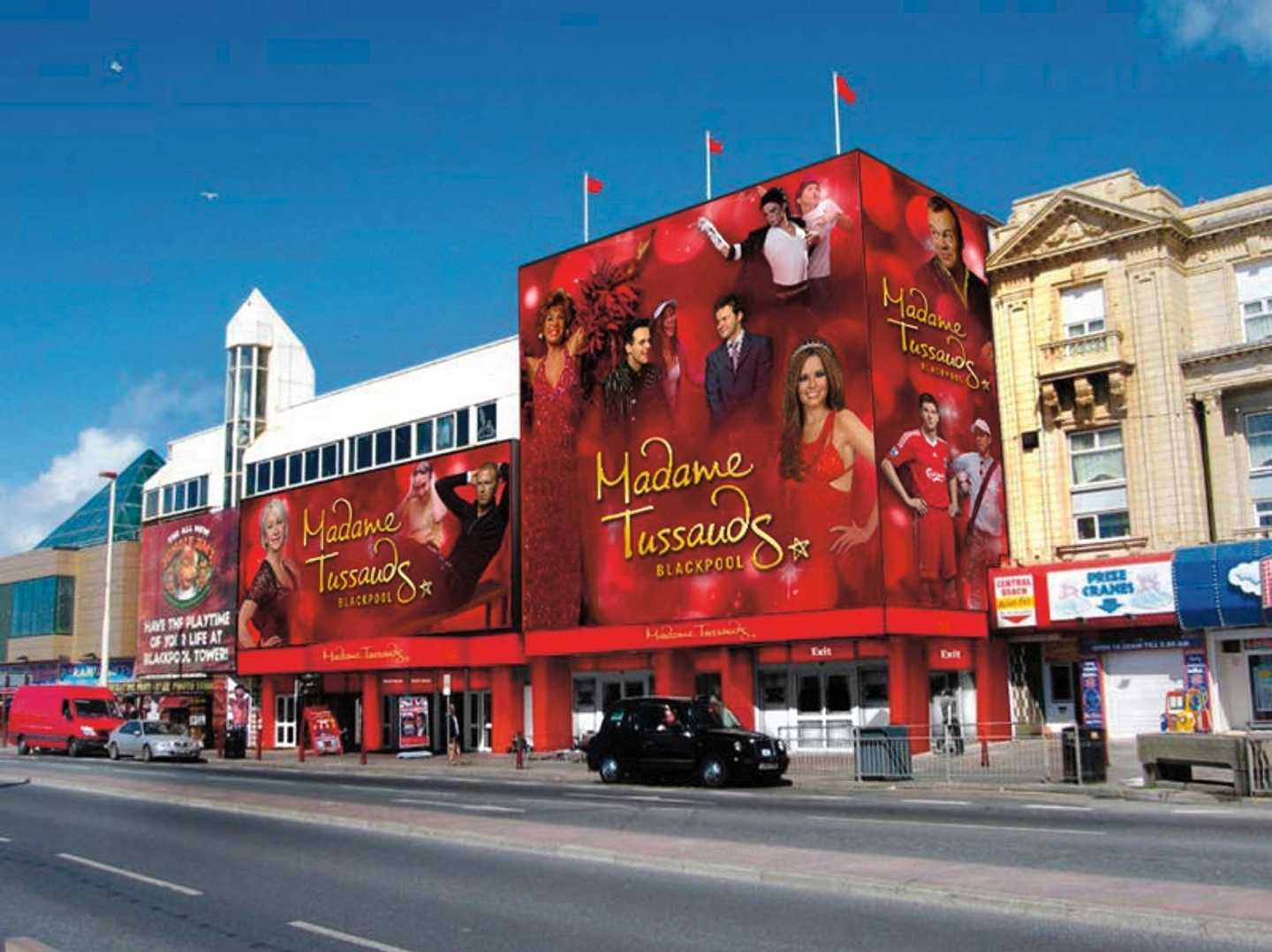Exterior shot of Madame Tussauds in Blackpool