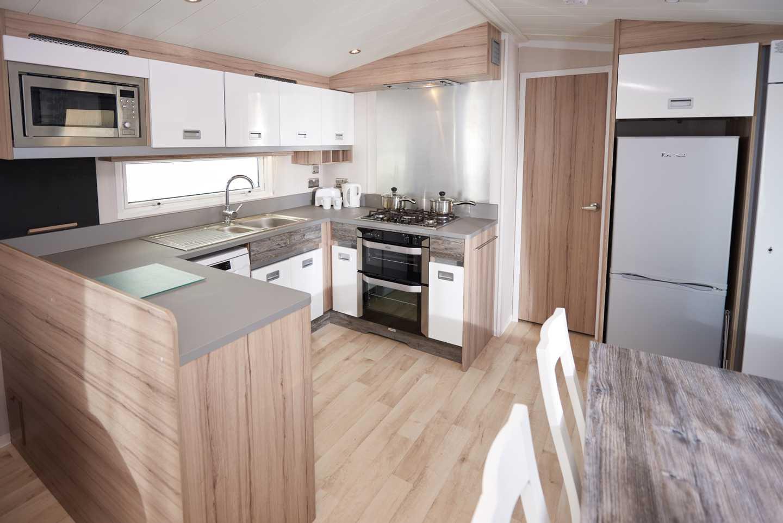 A Platinum caravan kitchen