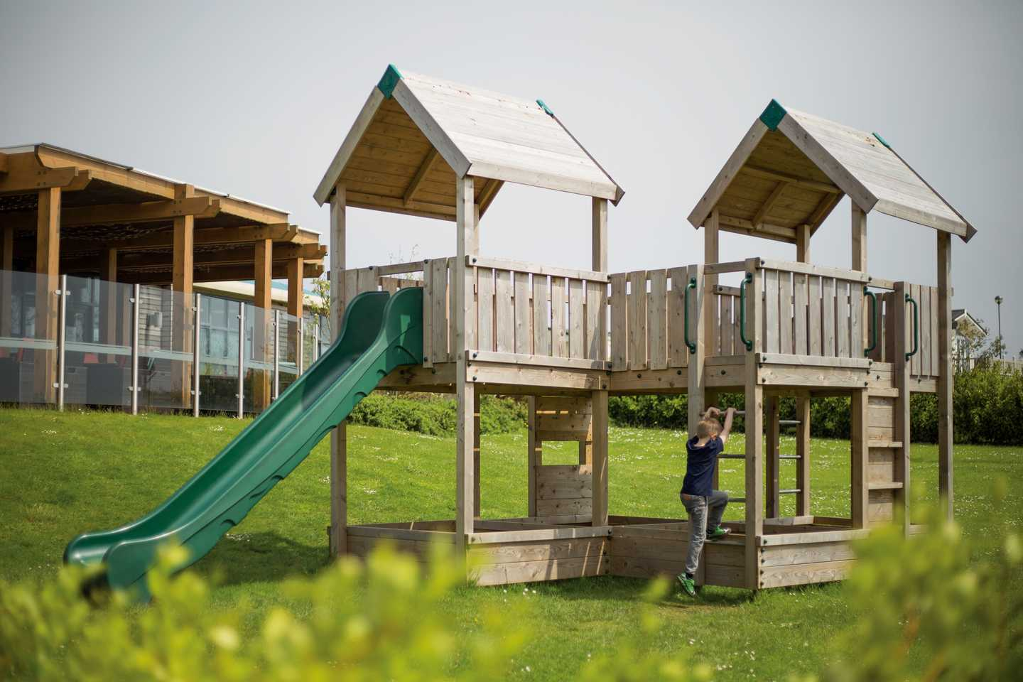 Outdoor play area at Blue Dolphin