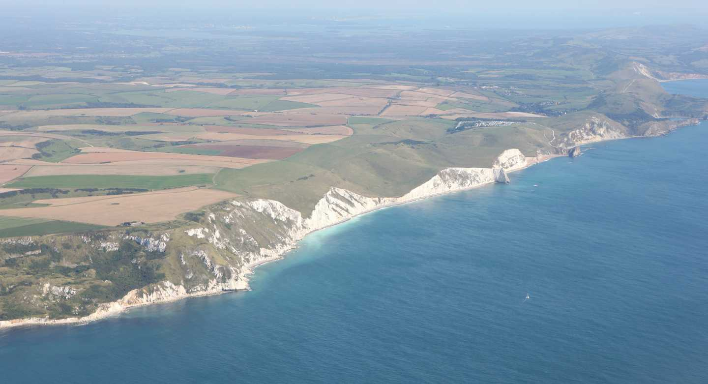 Aerial view of Weymouth Bay