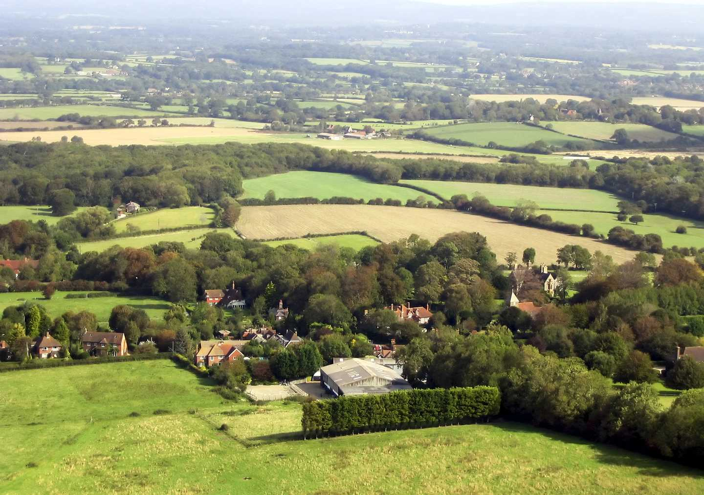 Aerial view of South Downs