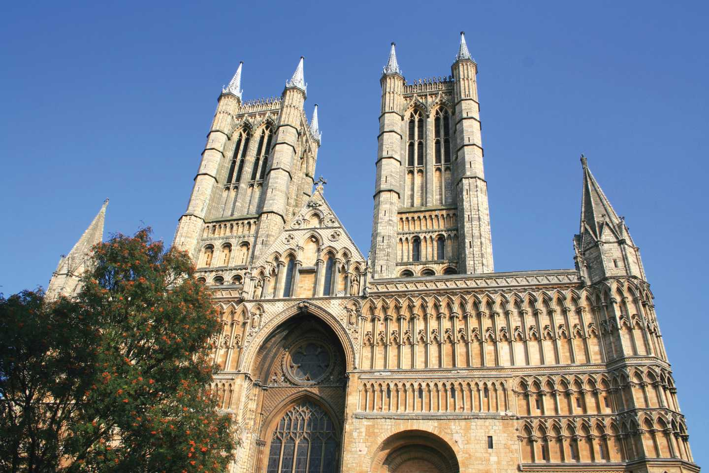 Lincoln Cathedral in Lincolnshire