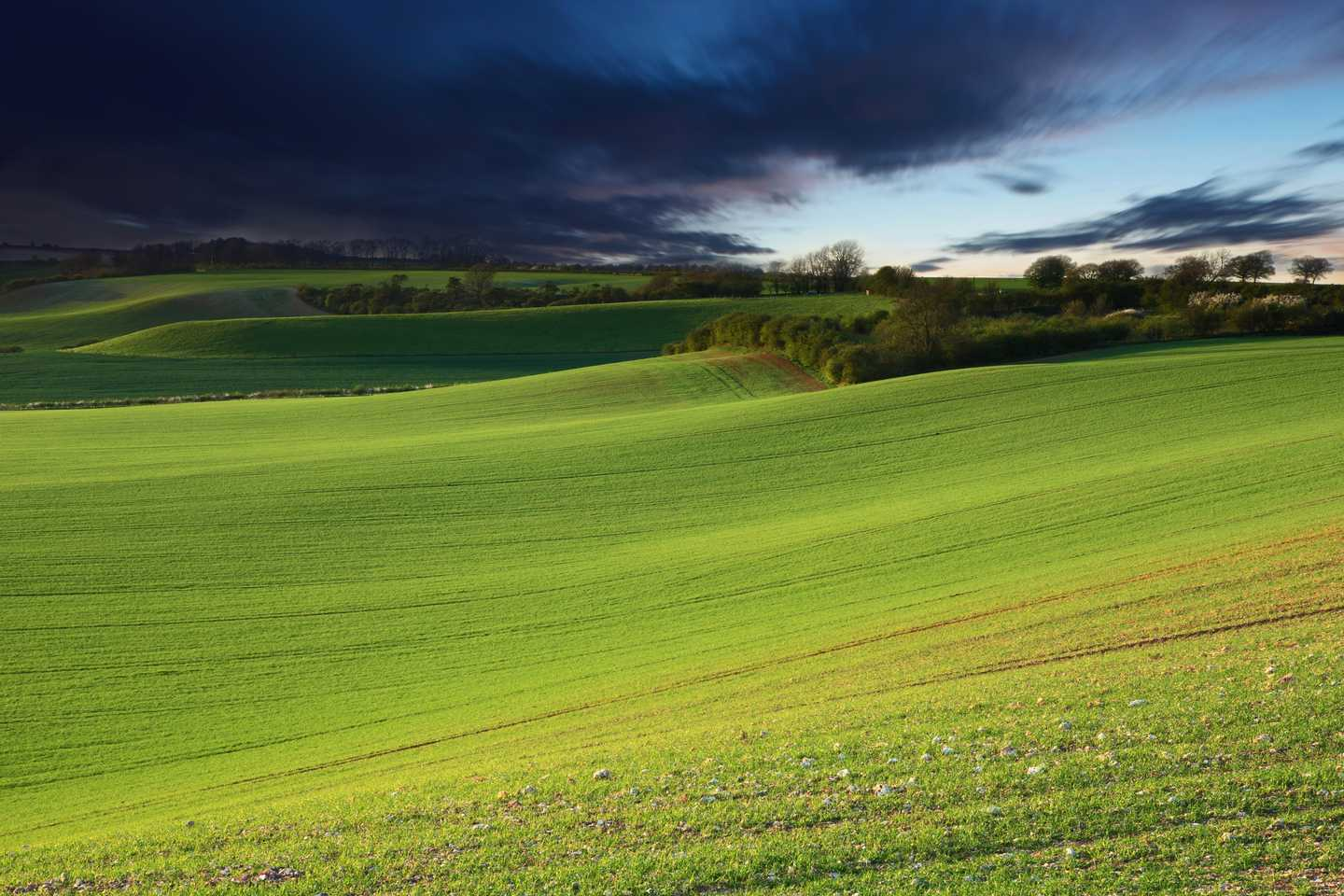 The sprawling green of Lincolnshire Wolds