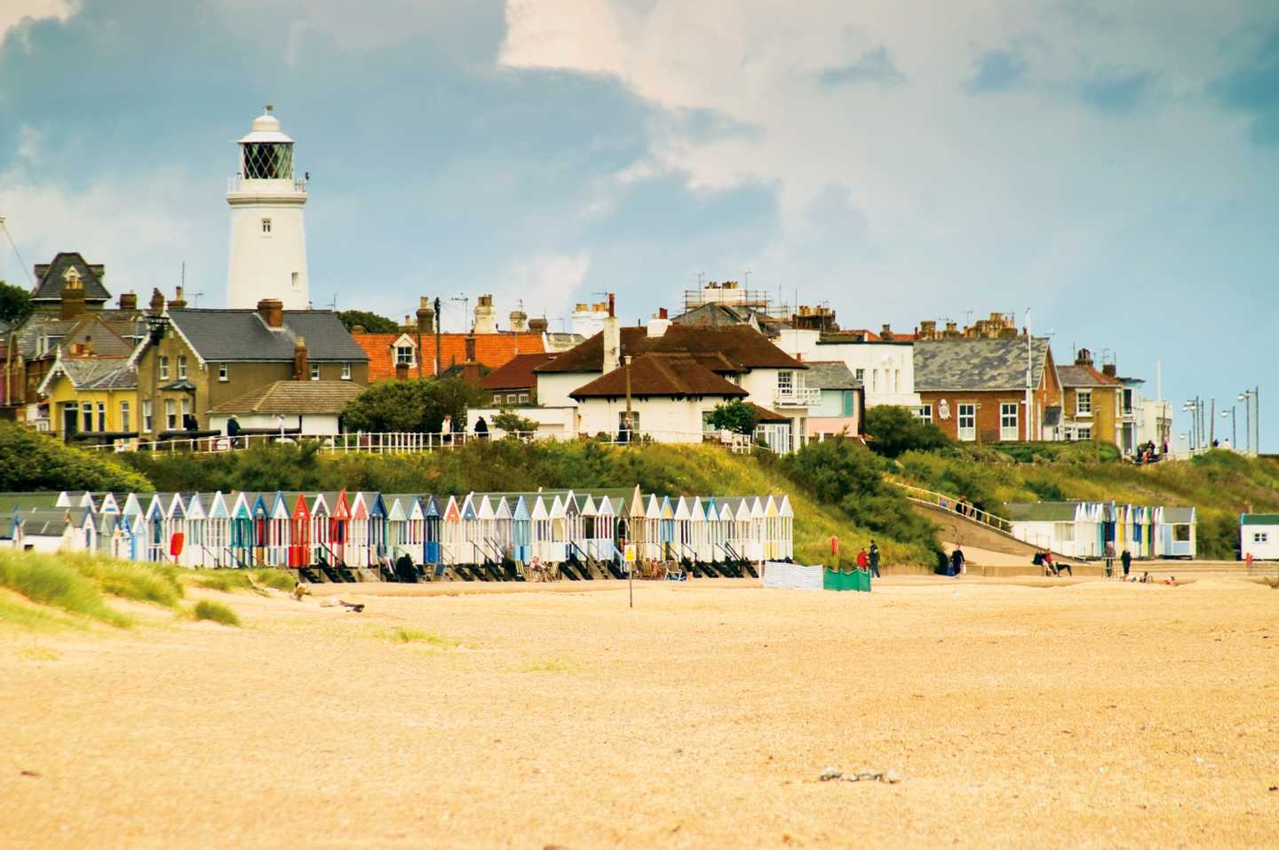 Seaside view of Southwold Beach